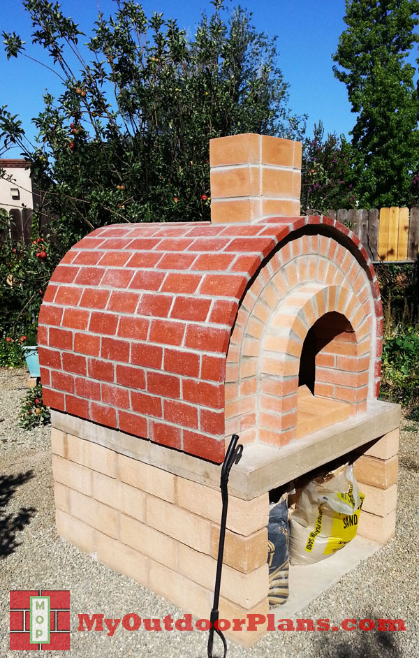 Diy brick pizza oven myoutdoorplans free woodworking for Diy brick projects