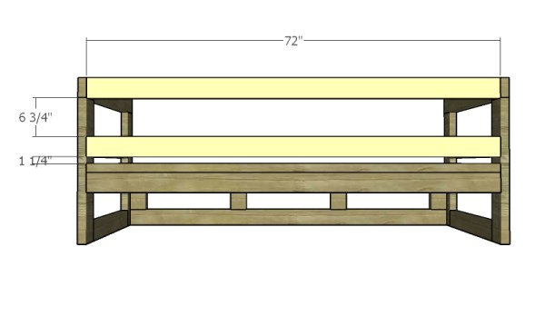 Fitting the back rails
