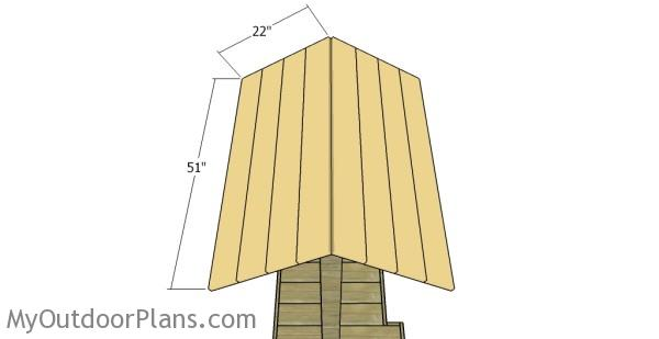 Fitting the roofing slats