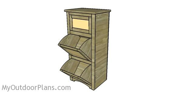 Potato Bin Plans | MyOutdoorPlans | Free Woodworking Plans ...