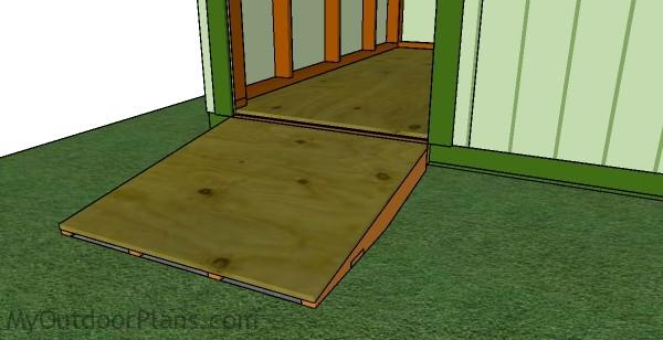 sheds how build to closer shed ramp a one dsc project save