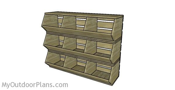 Vegetable storage bins plans