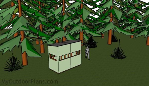 4x8 Deer Blind Plans