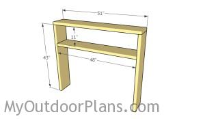Assembling the frame of the hutch