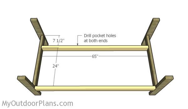 Assembling the frame of the sofa