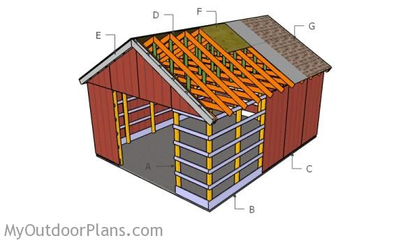 Free pole barn plans myoutdoorplans free woodworking for Wood pole barn plans free