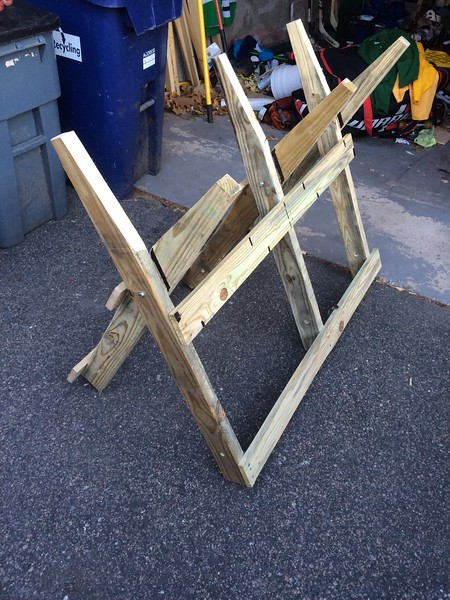 DIY Log Horse