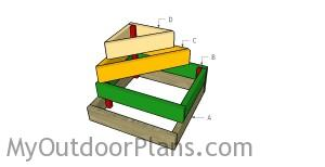 Building a tiered raised garden bed