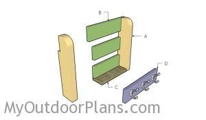 Building a wall shelf organizer
