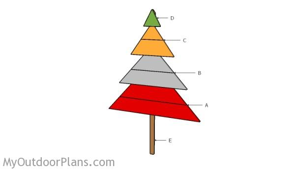 Building a wood Christmas decoration