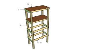 Building small garage shelves