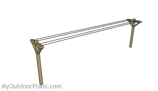How To Make A Clothesline Delectable Clothesline Plans MyOutdoorPlans Free Woodworking Plans And