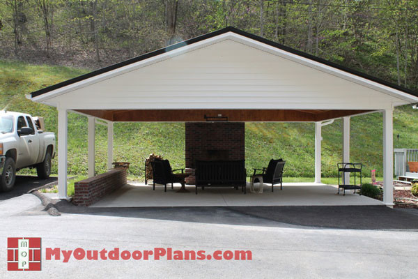 DIY Double Carport | MyOutdoorPlans | Free Woodworking Plans and ...