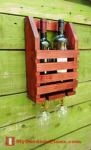 DIY Wine Shelf | MyOutdoorPlans | Free Woodworking Plans and Projects, DIY Shed, Wooden ...