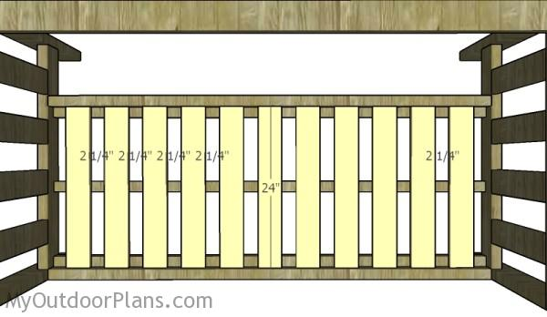 Fit the slats to the bottom of the couch