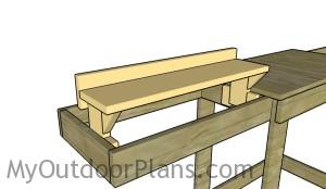 Fitting the adjustable lumber supports