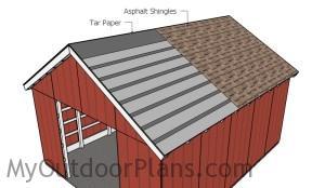 Fitting the asphalt shingles