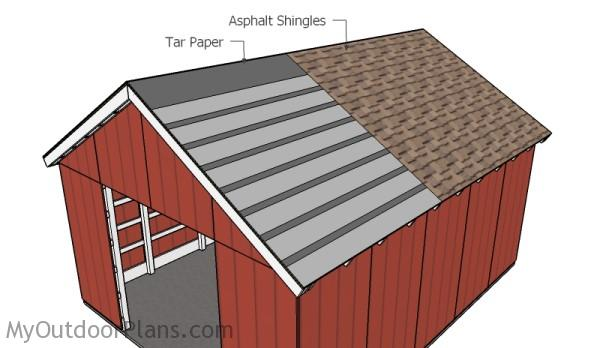Fitting the asphalt shingles