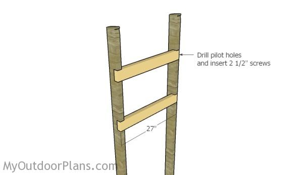 Fitting the horizontal supports