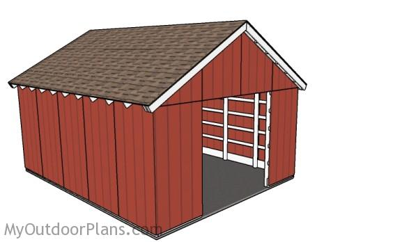 Free pole barn plans myoutdoorplans free woodworking for Small pole barn house plans