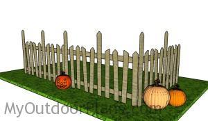 Halloween Graveyard Fence Plans