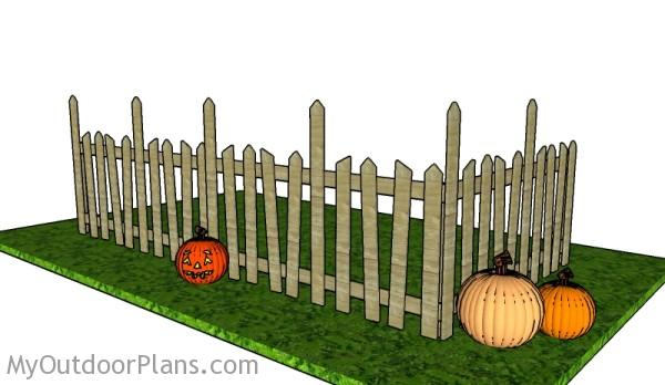 Halloween Graveyard Fence Plans