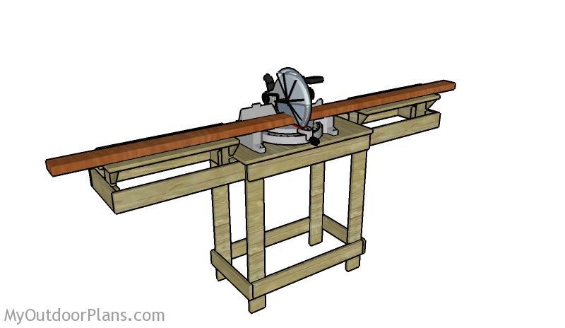 Miter Saw Table Plans Myoutdoorplans Free Woodworking