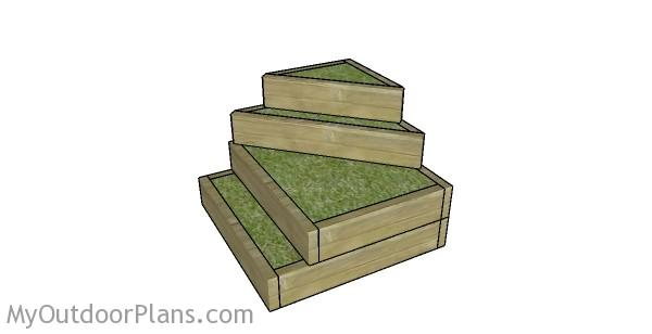 Tiered raised garden bed plans