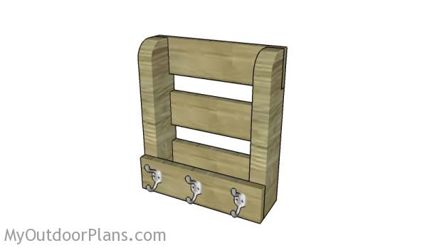 Wall mail organizer plans