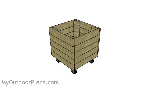 Wood storage bin plans