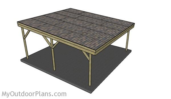 Wood carport designs myoutdoorplans free woodworking for Single car carport dimensions