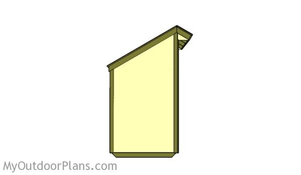 4x4 Firewood shed plans