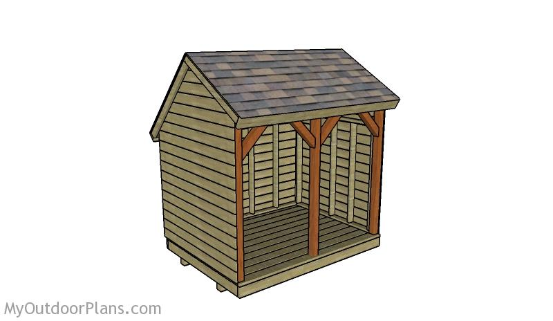Saltbox Firewood Shed Plans