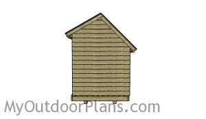 6x8 wood storage shed