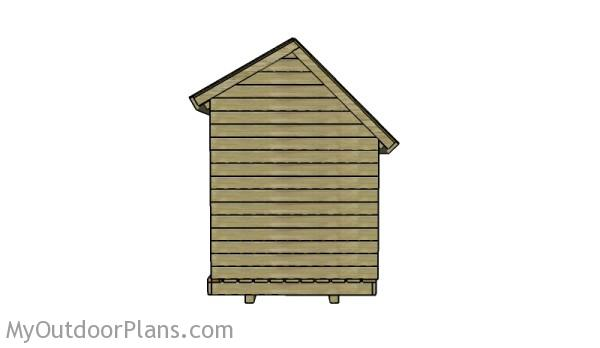 6x8 wood storage shed