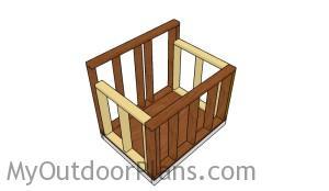 Assembling the dog house frame