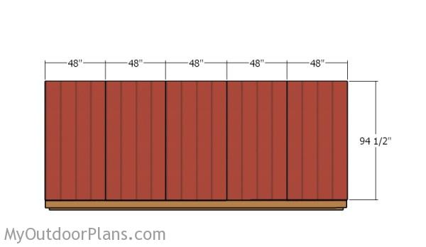 Attaching the siding - Back Wall