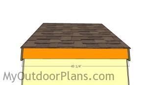 Back roof trim