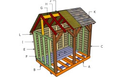 6×8 Wood Shed Roof Plans
