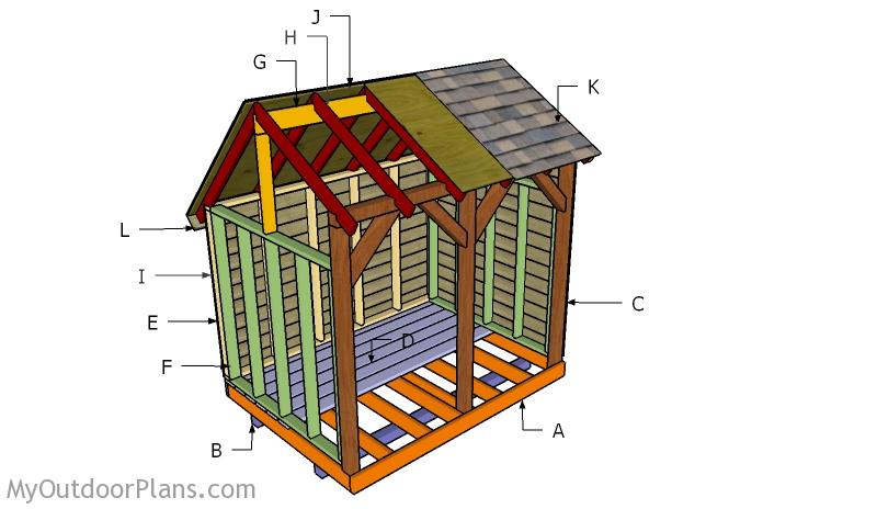 6x8 Wood Shed Roof Plans