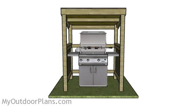 Grill shelter plans myoutdoorplans free woodworking