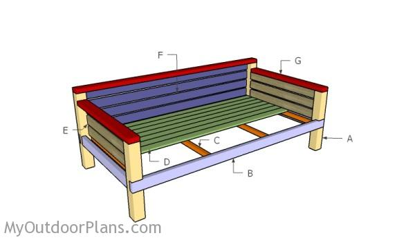DIY Daybed Plans | MyOutdoorPlans | Free Woodworking Plans ...