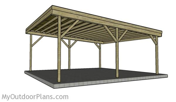 2 car carport plans myoutdoorplans free woodworking for Timber carport plans
