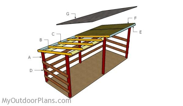 Large Firewood Shed Plans | MyOutdoorPlans | Free