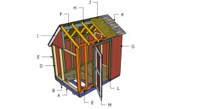 6×8 Saltbox Shed Roof Plans