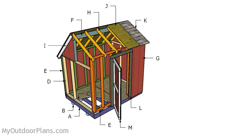 6x8 Saltbox Shed Roof Plans