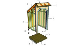 4×4 Firewood Shed Roof Plans