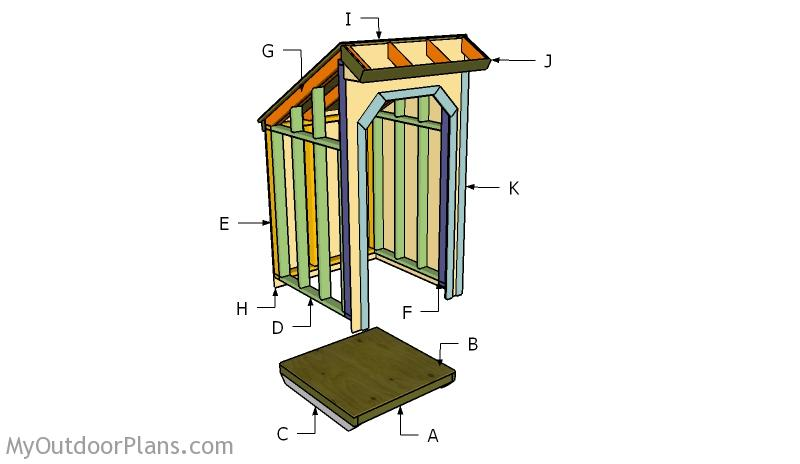 4x4 Firewood Shed Roof Plans