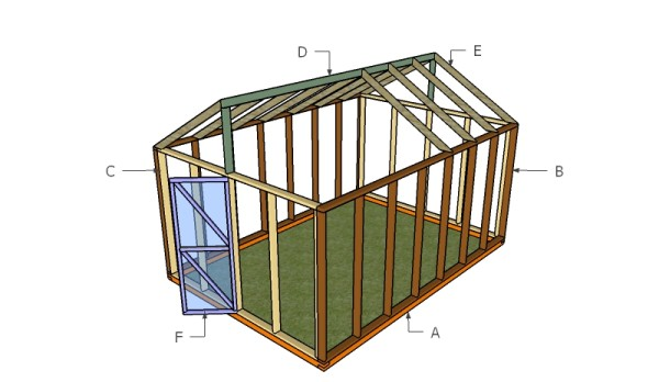 Building a wooden greenhouse