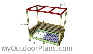 Building an outdoor day bed